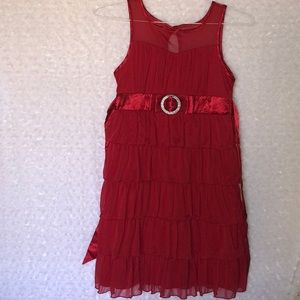 Girls Red Holiday Party Dress Candie's Size 12